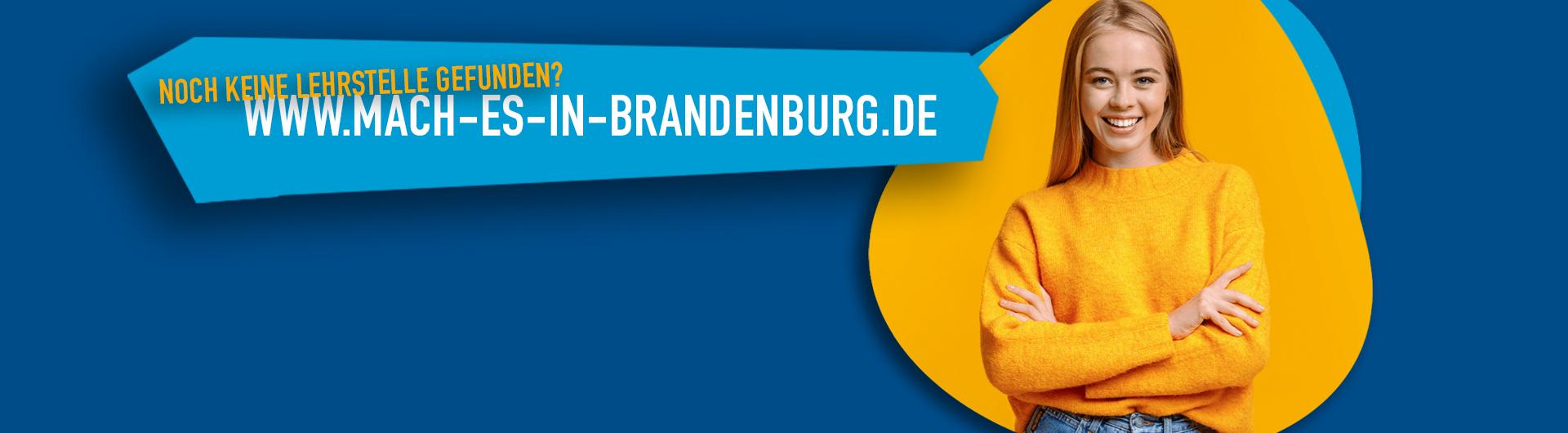 Banner Mach es in Brandenburg: Digitale Lehrstellenbörse